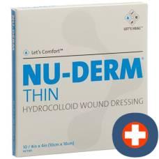 Nu-derm thin hydrocolloid dressing 10x10cm sterile 10 pcs