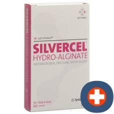 Silvercel hydroalginat compresses 5x5cm 10 pcs