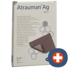Atrauman ag dressings 5x5cm sterile 10 pcs