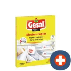 Gesal protect moth paper 12 pcs