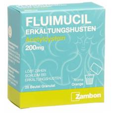 Fluimucil erkältungshusten gran 200 mg btl 20 pcs