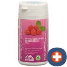 Acerola biosana vitamin c tablets ds 60 pcs