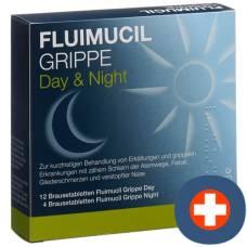Fluimucil flu day night brausetabl 16 pcs