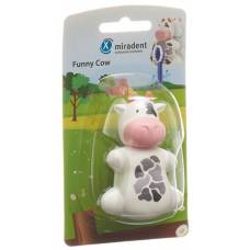 Miradent funny snapper toothbrush holder cow