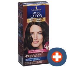 Dark brown hair color cream polycolor 43