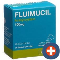 Fluimucil gran 100mg child btl 30 pcs