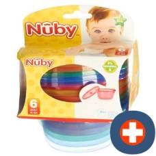 Nuby breischalen set picnic 300ml with lid 6 pieces