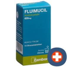 Fluimucil brausetabl 600 mg adults citron (d) 10 pcs