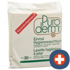 Puroderm once hygiene washcloths 30 pcs