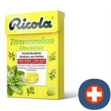 Ricola lemon balm herbal sweets without sugar 50g box
