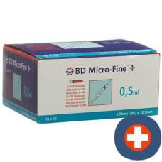 Bd micro-fine + u100 insulin syringe 12.7x0.33 100 x 0.5 ml