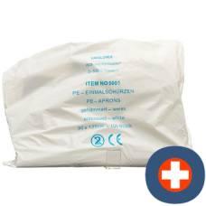 Semadeni disposable aprons 1250mm white 100 pcs