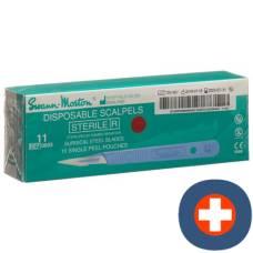 Swann morton scalpel 1x sterile no 11 10 pcs
