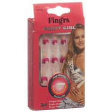 Fingrs artificial nails party girl romance