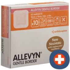 Allevyn gentle border dressing 10x10cm 10 pcs