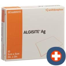 Algisite ag alginate compresses 5x5cm 10 pcs