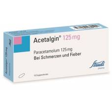 Acetalgin supp 125 mg 10 pcs