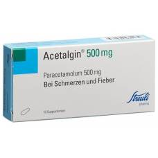 Acetalgin supp 500 mg of 10 pcs