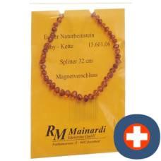 Mainardi natural amber 32cm split magnetverschl