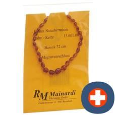 Mainardi natural amber 32cm baroque magnetverschl