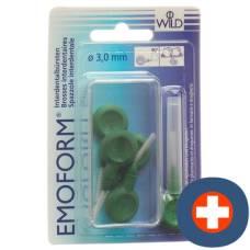 Emoform interdental brush 3.0mm dark green 5 pcs