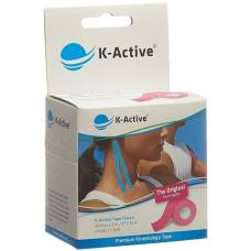 K-active kinesiology tape classic 5cmx5m pink water repellent