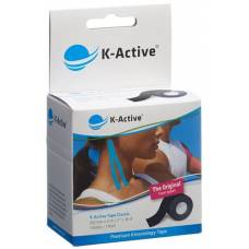 K-active kinesiology tape classic 5cmx5m black water-repellent