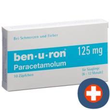Ben-u-ron supp 125 mg bébé 10 pcs
