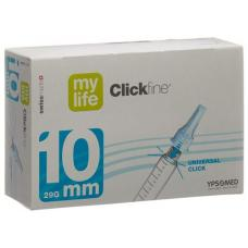 Mylife clickfine pen needles 10mm 29g 100 pcs