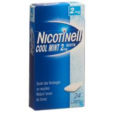 Nicotinell gum 2 mg cool mint 24 pcs