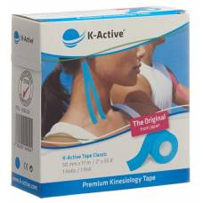 K-active kinesiology tape classic 5cmx17m blue water repellent