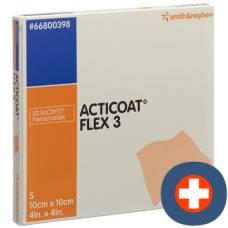 Acticoat flex 3 wound dressing 10x10cm 5 pcs