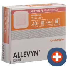Allevyn ag wound dressing gb 7.5x7.5cm 10 pcs