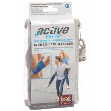 Active color thumbs-hand bandage s blue