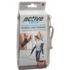 Active color thumbs-hand bandage l black