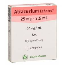 Atracurium labatec inj lös 25 mg / 2.5ml 5 amp 2.5 ml