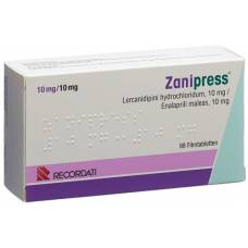 Zanipress filmtabl 10/10 mg 98 pcs