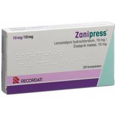 Zanipress filmtabl 10/10 mg 28 pcs