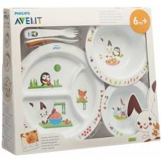 Avent philips baby dining learning set large 6m +