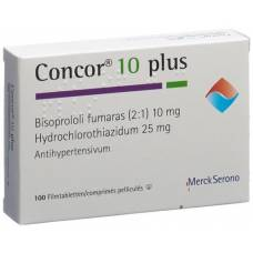 Concor 10 plus lacktabl 10/25 mg 100 pcs