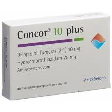 Concor 10 plus lacktabl 10/25 mg 30 pcs