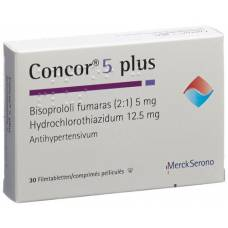 Concor 5 plus lacktabl 5 / 12.5 mg 30 pcs