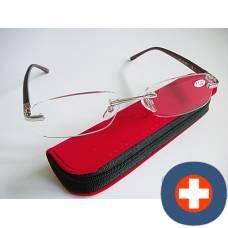 Dv andrea reading glasses 3.50dpt burgundy