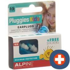 Alpine pluggies kids earplugs blue