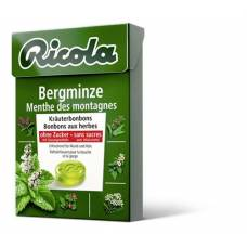 Ricola mountain mint herbal sweets without sugar 50g box