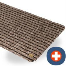 Ha-ra doormat purus soft 60 / 40cm black-brown