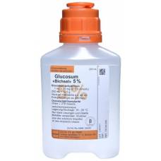 Glucosum bichsel inf lös 5% 250ml plastic bottle without cutlery