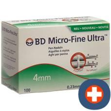 Bd micro-fine ultra pen needle 0.23x4mm 100 pcs