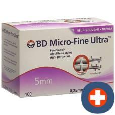 Bd micro-fine ultra pen needle 0.25x5mm 100 pcs