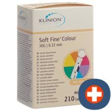 Klinion soft fine once lancets 30g sterile 210 pcs